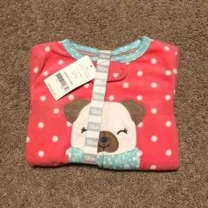NEW Carter's Fleece Sleeper Pajamas - Toddler Girl